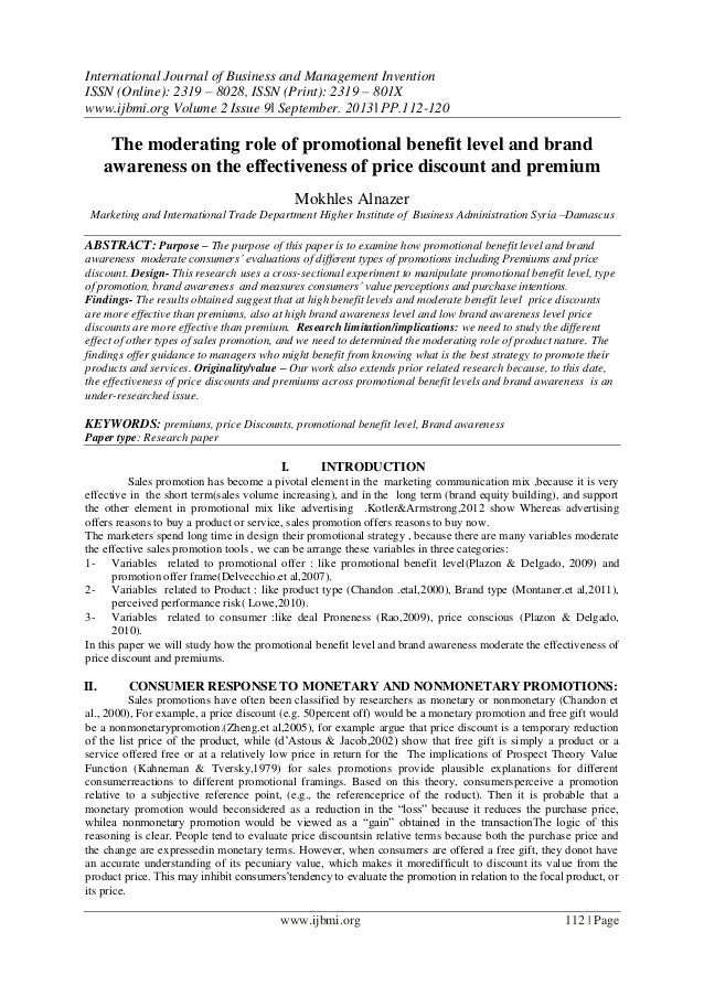 International Journal of Business and Management Invention (IJBMI)