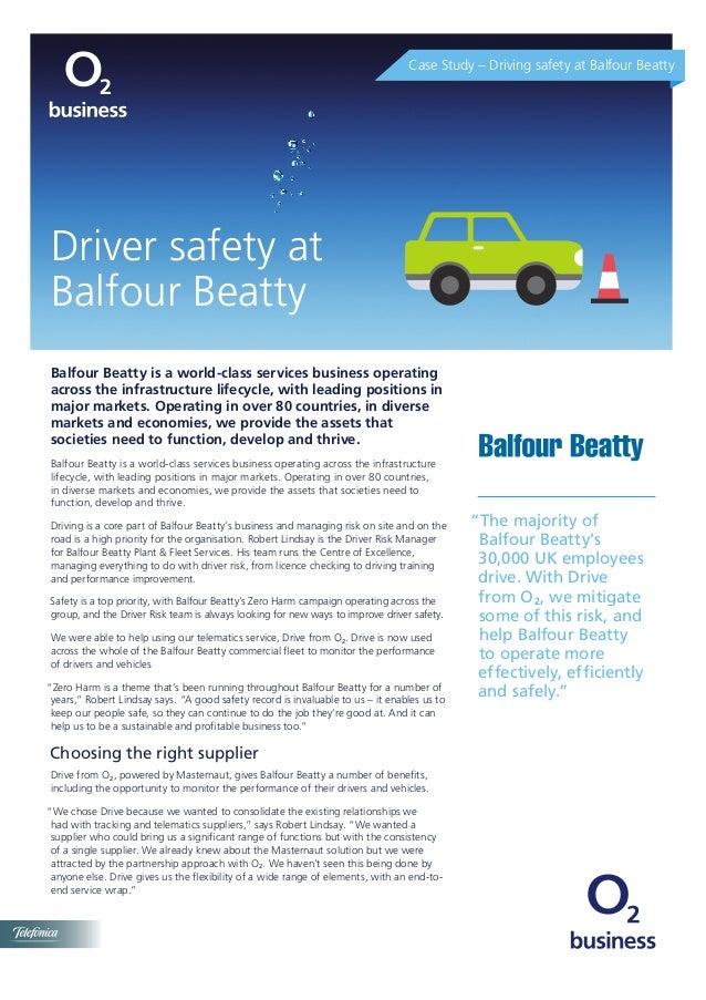 Driver safety at Balfour Beatty