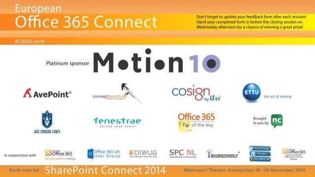 O365con14 - lync to the future
