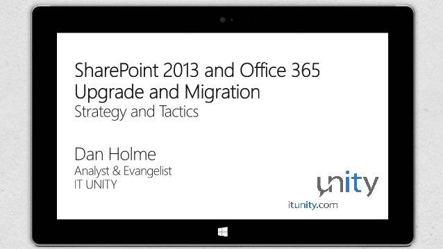 O365con14 - sharepoint 2013 and office 365 upgrade and migration
