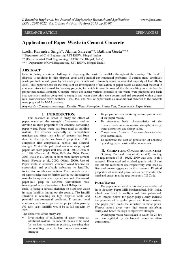 cement and concrete research paper submission Next paper paper submission suthar gourav , a review paper on self healing concrete cement and concrete composites 33 (7.