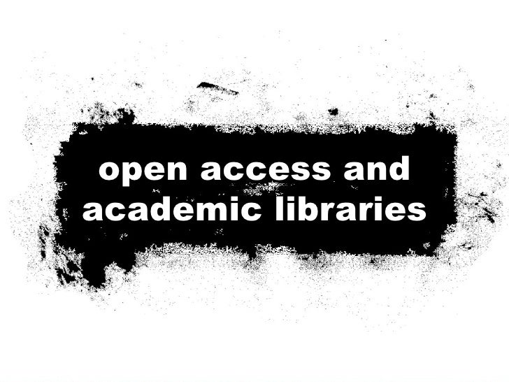 open access publishing & academic libraries