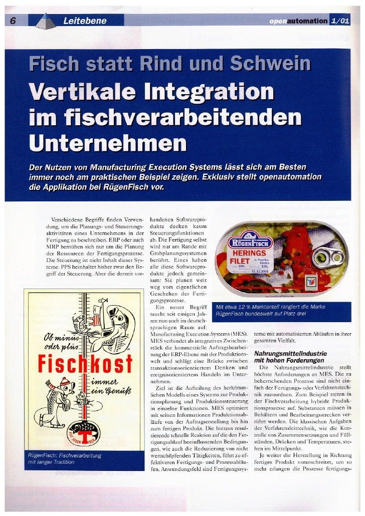 Vertikale Integration im Fischverarbeitenden Unternehmen