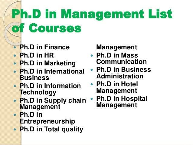 Phd list
