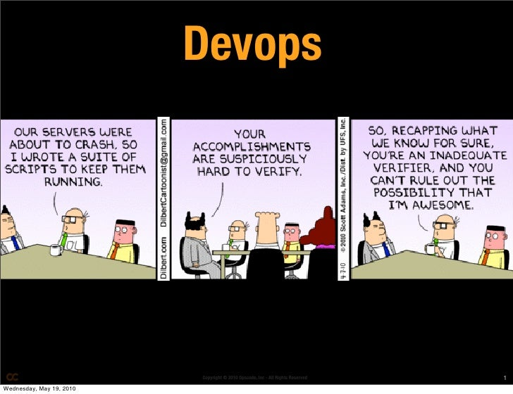 Devops                               Copyright © 2010 Opscode, Inc - All Rights Reserved   1 Wednesday, May 19, 2010