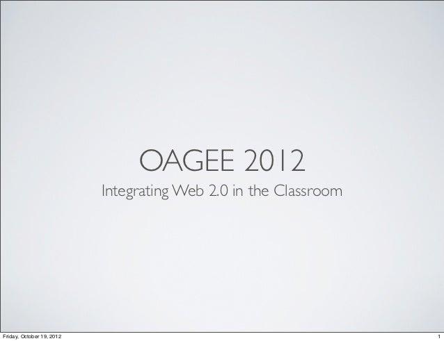 Oagee 2012