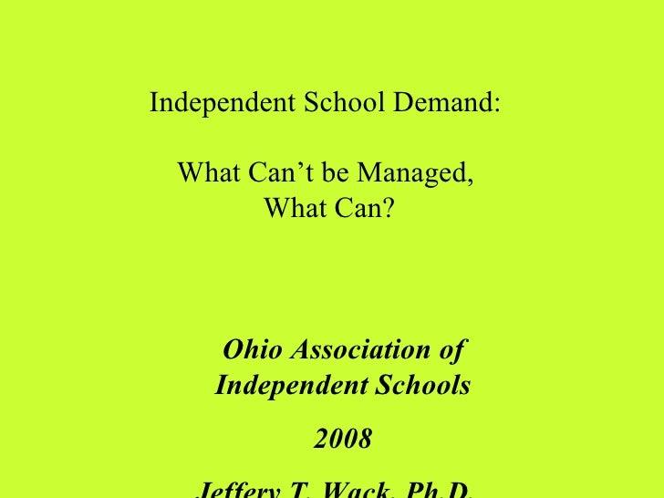 Ohio Assoc IS  5 Drivers of Ind School Demand