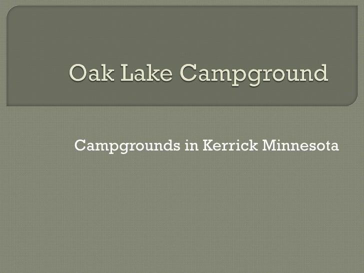 Oak Lake Campground Photos
