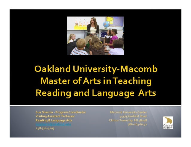 Oakland macomb mat in reading and language arts