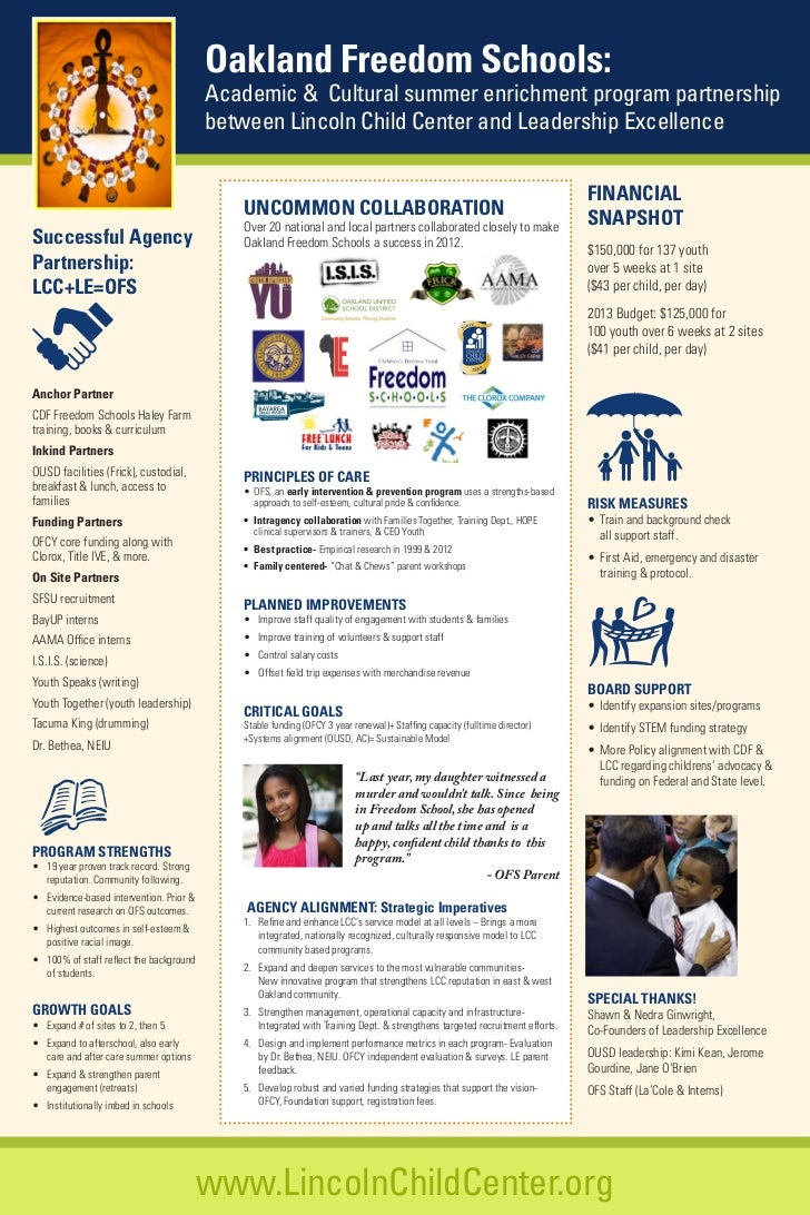 Oakland Freedom Schools:                                          Academic & Cultural summer enrichment program partnershi...