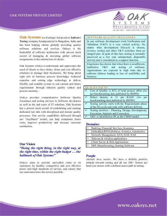 Oak testing profile2013