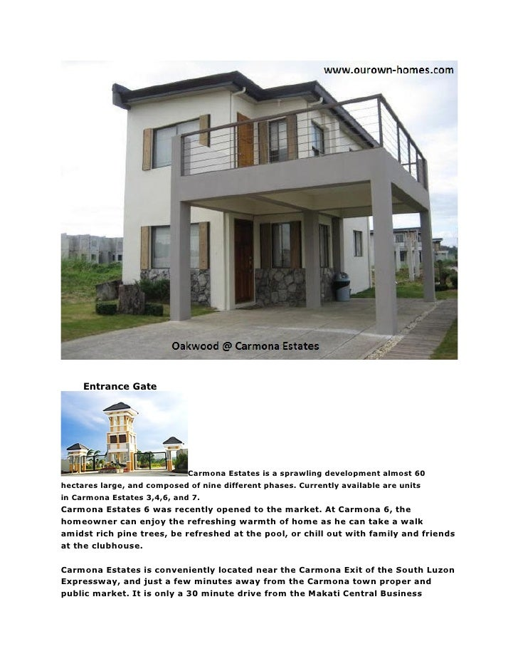 Entrance Gate                                  Carmona Estates is a sprawling development almost 60 hectares large, and co...