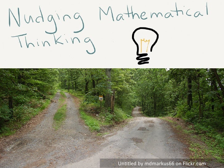 OAME 2012: Nudging Mathematical Thinking