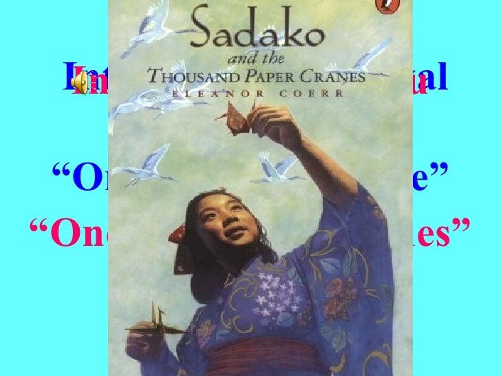 "Interna t ional  Festival "" Origami Peace Tree ""   (OPT) International Haiku Contest "" One Thousand Cranes"" Romania 2008"