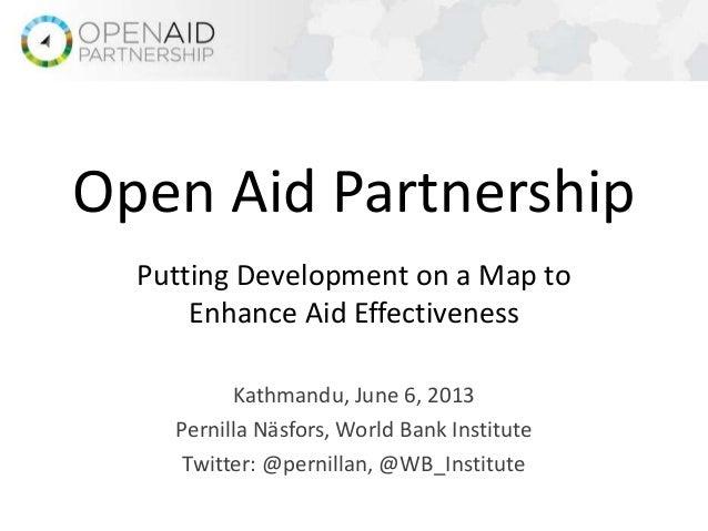 Open Aid Partnership - Pernilla Näsfors