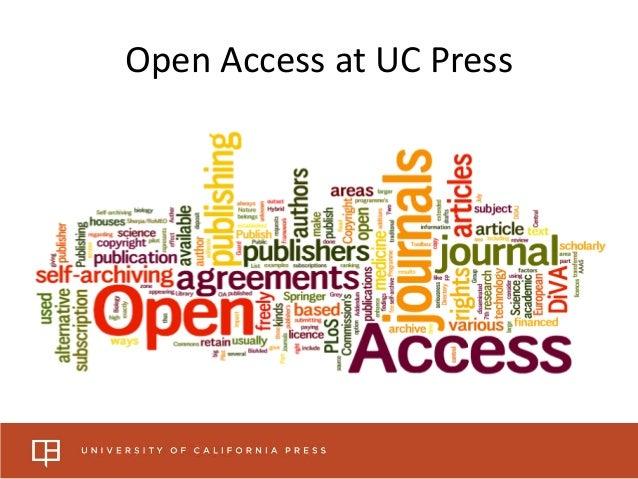 Open Access at UC Press