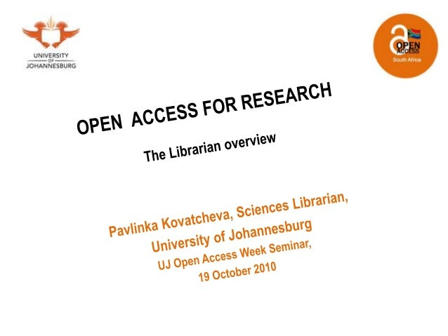 Open Access for Research: A Librarian Overview