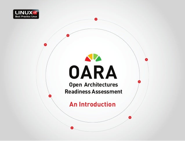 OARA  Open Architectures Readiness Assessment  An Introduction