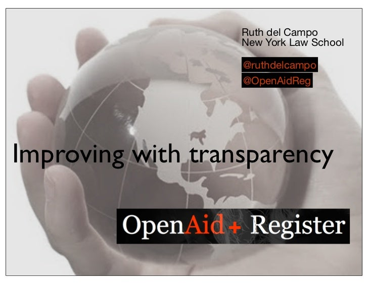 Open Aid Register for NGOs