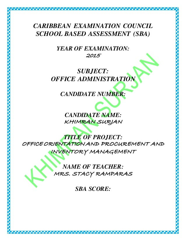 office administration sba report sample Hodder caribbean office administration for csec® website home page.