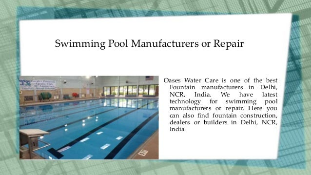 Swimming pool manufacturers in india for Swimming pool manufacturers