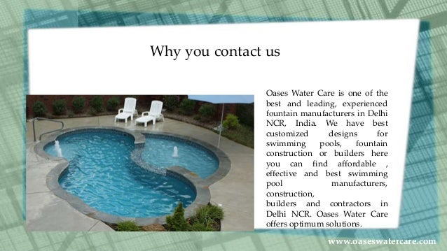 Swimming Pool Manufacturers In India
