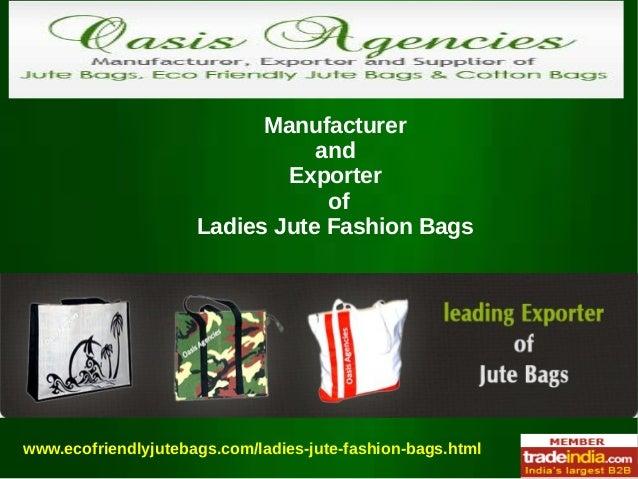 Ladies Jute Fashion Bags Exporter,Manufacturer,Kolkata