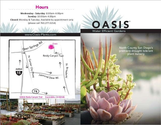 Oasis Water Efficient Gardens - San Diego, California