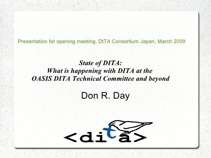 OASIS DITA History(2009)