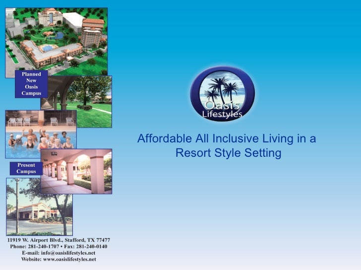 Affordable All Inclusive Living in a  Resort Style Setting