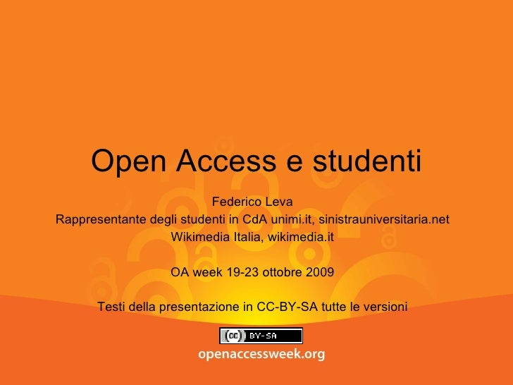 Open Access e studenti