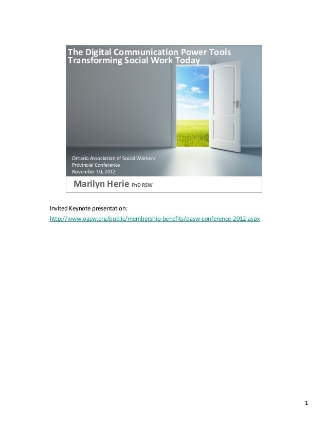 Digital Communication Power Tools: Speakers Notes version
