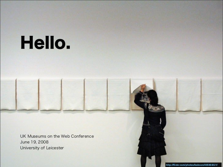 UK Museums and The Web