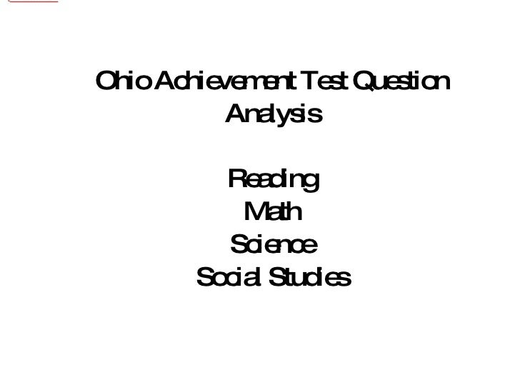Oat question analysis