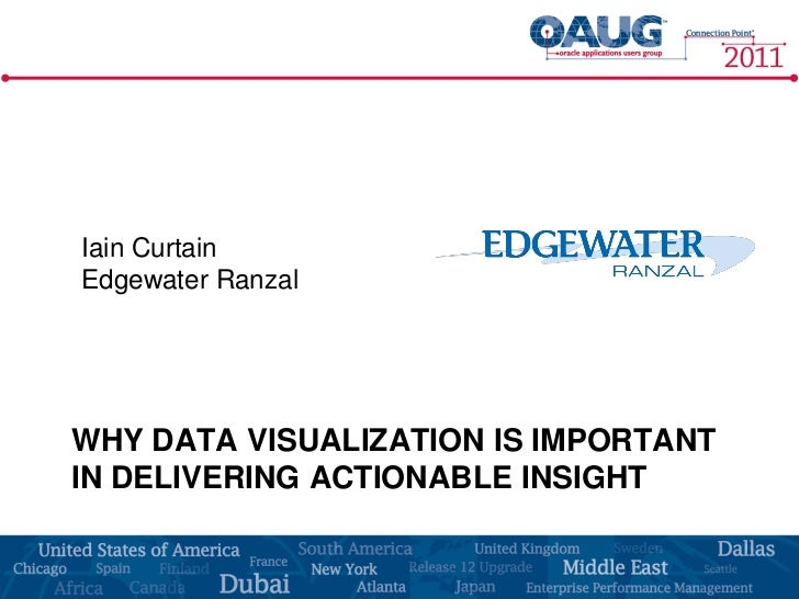 Iain CurtainEdgewater RanzalWHY DATA VISUALIZATION IS IMPORTANTIN DELIVERING ACTIONABLE INSIGHT