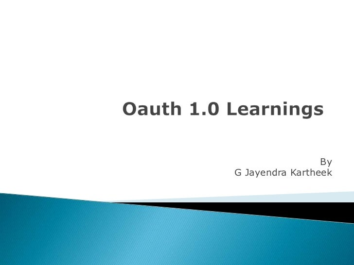 OAuth1.0