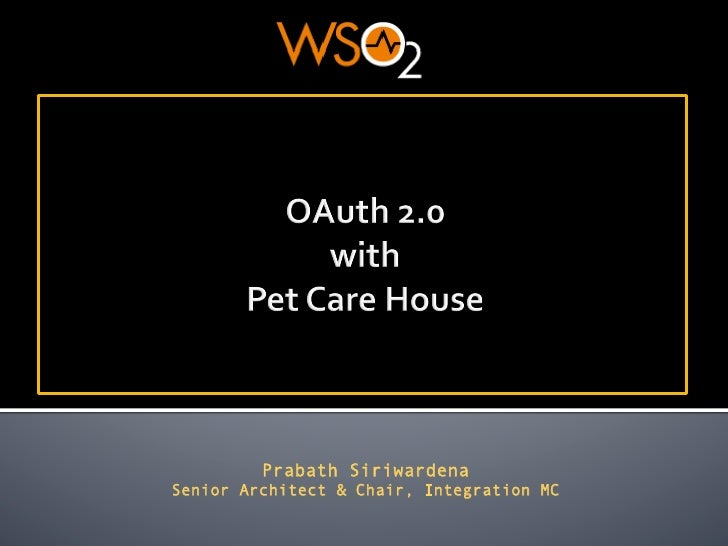 OAuth 2.0 with Pet Care House