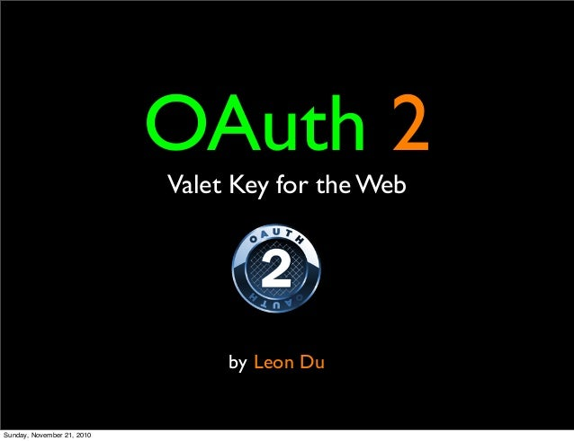Introduction to OAuth2