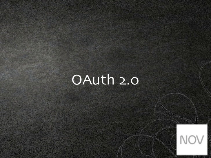 OAuth 2.0 #idit2012