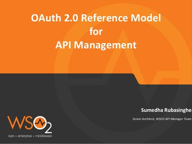 OAuth based reference architecture for API Management
