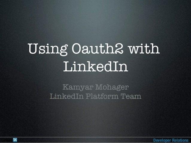 OAuth2 and LinkedIn