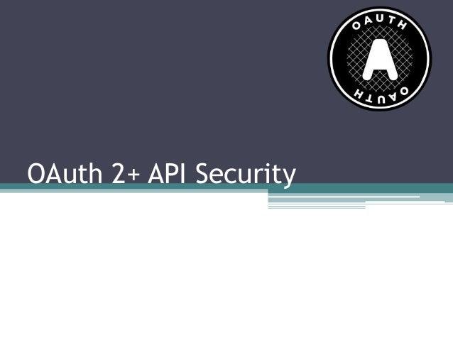 OAuth2 + API Security