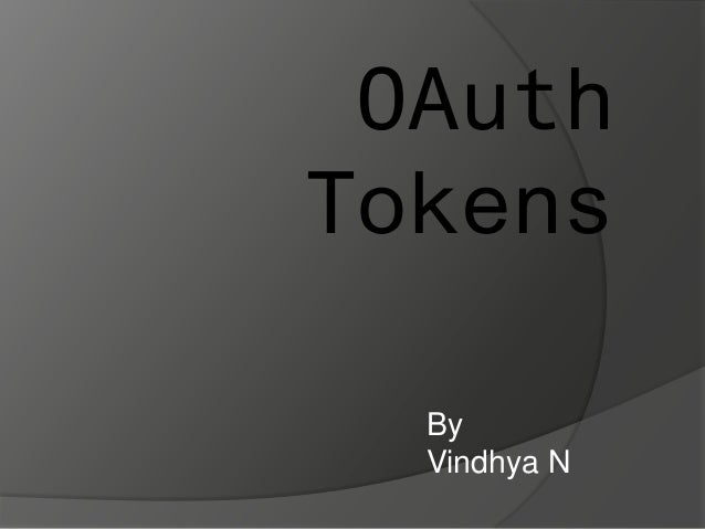 OAuth Tokens