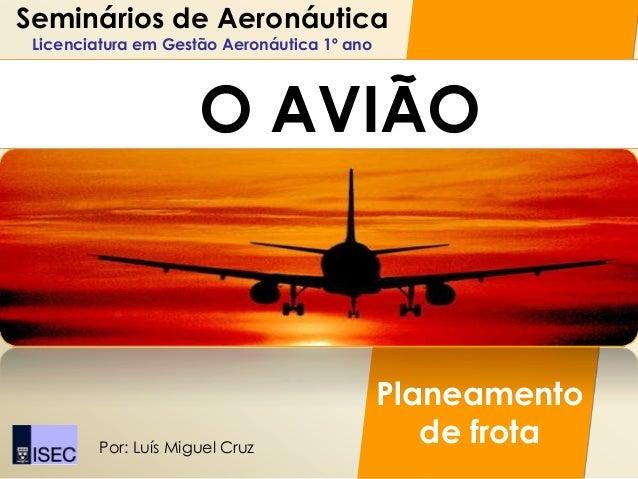 Seminários de Aeronáutica Licenciatura em Gestão Aeronáutica 1º ano                      O AVIÃO                          ...