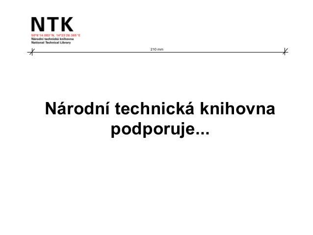 210 mm Národní technická knihovna podporuje...
