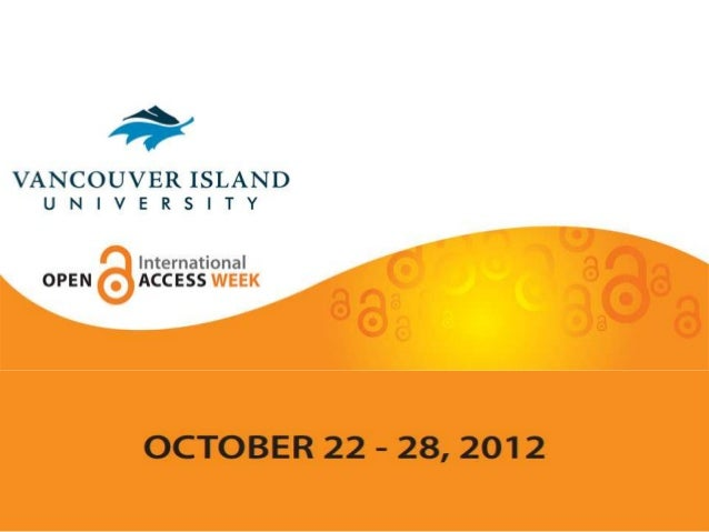 Open Access Week at Vancouver Island University