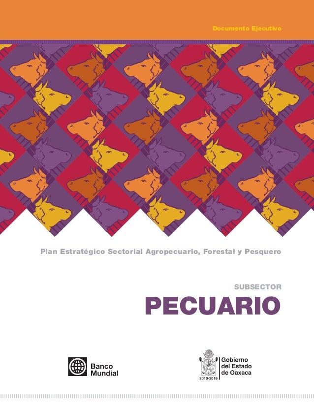 PLAN ESTRATÉGICOS SECTORIAL SEDAFPA RUBRO PECUARIO 2012-2016.