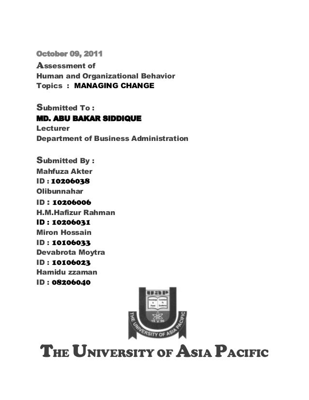 Ob. managing change  09.10.2011