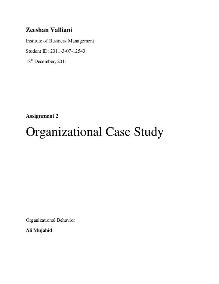 Case study organizational communication problems