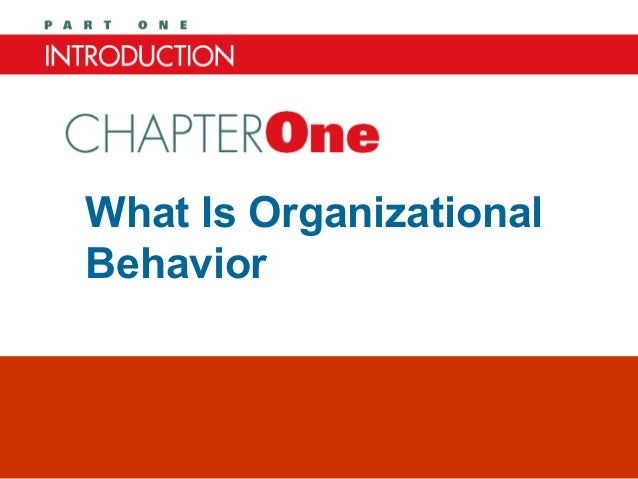 What Is OrganizationalBehaviorChapter One